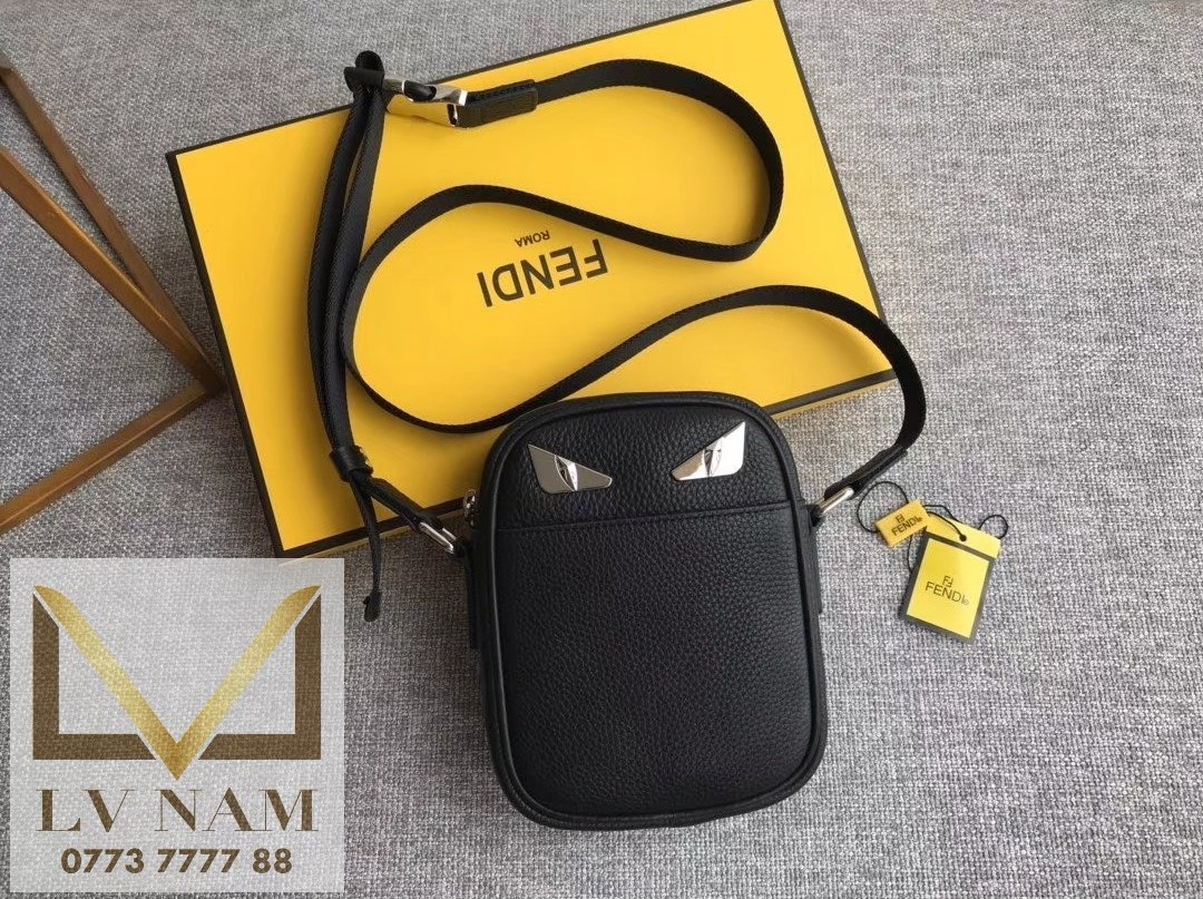 Fendi messenger leather bag