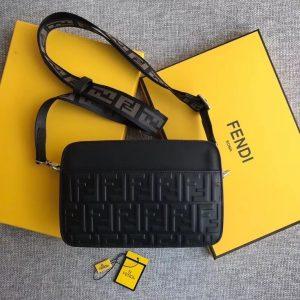 Fendi messenger leather bag